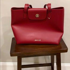 Red leather tote  Roberto Cavalli